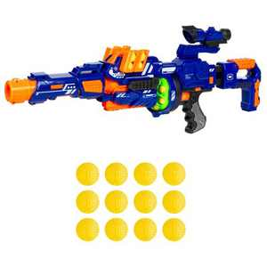 Best Choice Products Electric Customizable Soft Foam Ball Long-Distance Blaster Toy w/ Barrel Extension, 12 Balls, Bipod