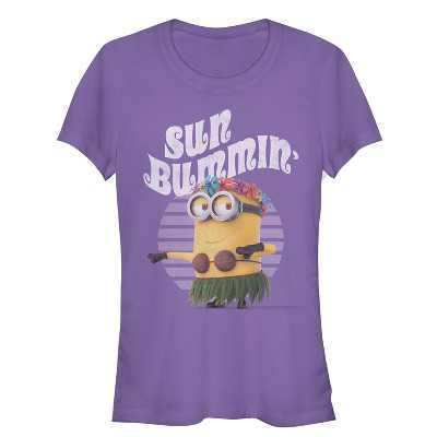 Junior's Despicable Me Minion Sun Bummin' Hula T-Shirt
