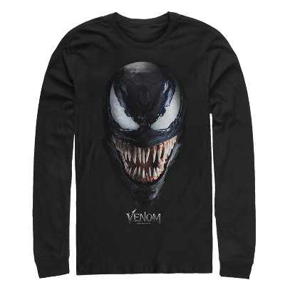 Men's Marvel Venom Film All Smiles Long Sleeve Shirt