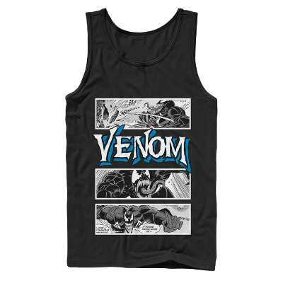 Men's Marvel Venom Comic Panels Tank Top