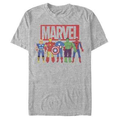 Men's Marvel Avenger Action Figures T-Shirt