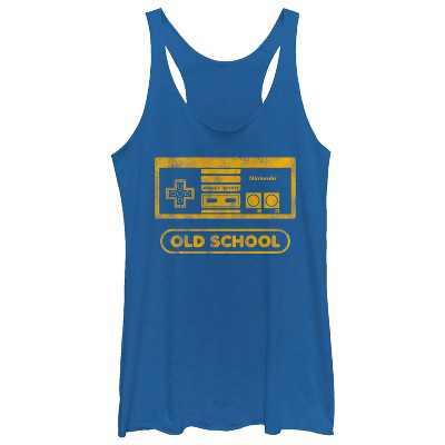 Women's Nintendo Vintage NES Controller Old School Racerback Tank Top