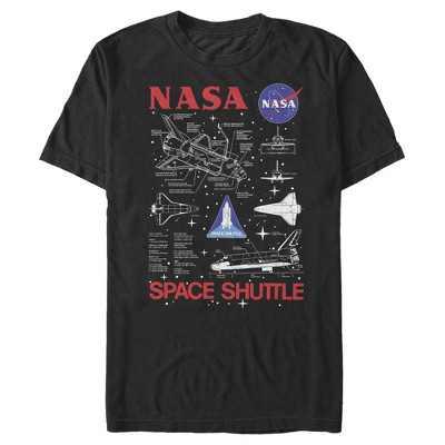 Men's NASA Space Shuttle Schematic Details T-Shirt