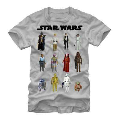 Men's Star Wars Vintage Action Figures T-Shirt