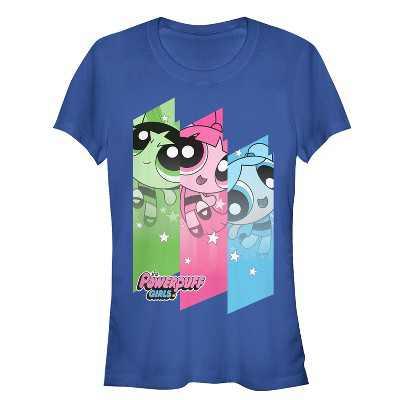 Junior's The Powerpuff Girls Rainbow Trio T-Shirt