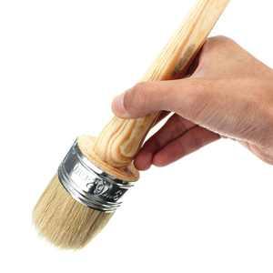 50mm Dia Wooden Handle Round Bristle Chalk Oil Paint Painting Wax Brush Artist
