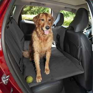 FurHaven Deluxe Pet Car Barrier & Seat Protector with Carry Bag