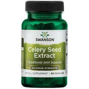 Swanson Maximum Strength Celery Seed Extract Capsules, 150 mg, 60 Count.