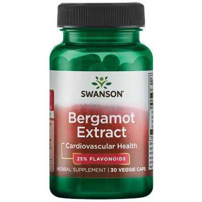 Swanson Bergamot Extract 500 mg 30 Veggie Capsules.