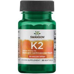 Swanson Vitamin K-2 - Natural 50 Mcg 30 Softgels