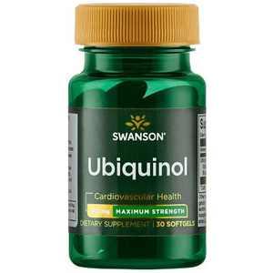 Swanson Ubiquinol - Maximum Strength 200 mg 30 Softgels.