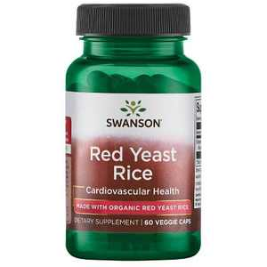 Swanson Red Yeast Rice made with Organic Red Yeast Rice 600 mg 60 Veggie Capsules