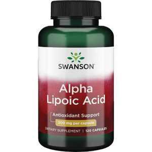 Swanson Alpha Lipoic Acid Capsules, 300 mg, 120 Count.