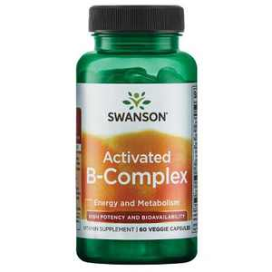 Swanson Activated B-Complex High Potency and Bioavailability 60 Veggie Capsules.