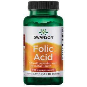 Swanson Folic Acid 800 Mcg 250 Capsules
