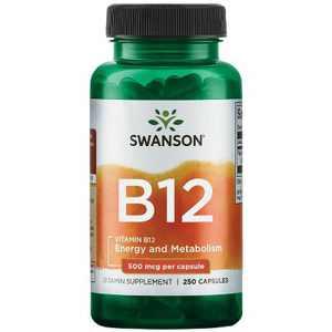 Swanson Vitamin B-12 500 Mcg 250 Capsules