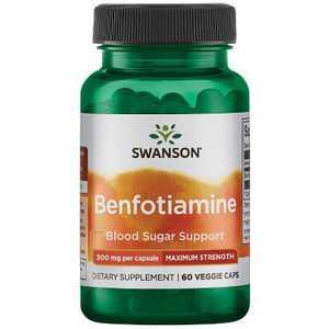 Swanson Benfotiamine - Maximum Strength 300 mg 60 Veggie Capsules