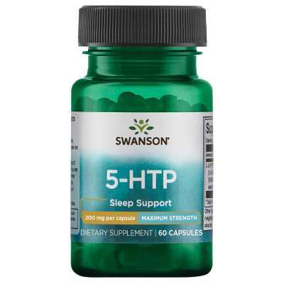 Swanson Ultra Maximum Strength 5-HTP Vegetarian Capsules, 200mg, 60 Count