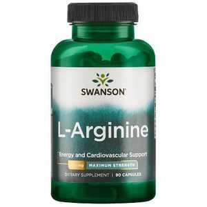 Swanson L-arginine - Maximum Strength 850 mg 90 Capsules.