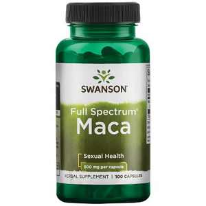 Swanson Maca 500 mg 100 Capsules.