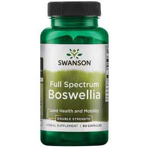 Swanson Double Strength Full Spectrum Boswellia Capsules, 800 mg, 60 Count.