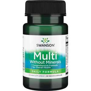 Swanson Multi Without Minerals - Daily Formula 30 Veggie Capsules.