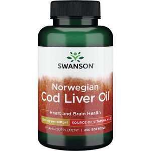 Swanson Cod Liver Oil 350 mg 250 Softgels.