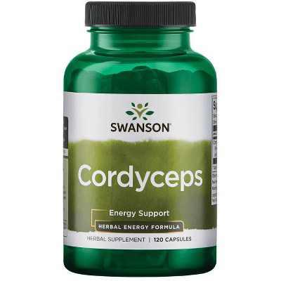 Swanson Cordyceps Mushroom Mycelia Extract - Energy Support 600 mg 120 Capsules.