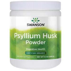 Swanson Psyllium Husk Powder - Certified Organic 12 oz Powder
