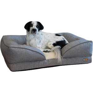 K&H Pet Products Large Sized Washable Pet Furniture Comfortable Over Stuffed Pillow Top Orthopedic Dog Bed Lounger, 28 x 36 Inches, Classy Gray