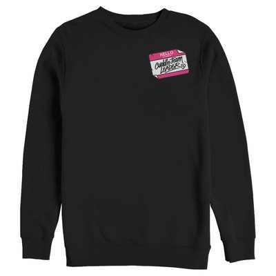 Men's Fortnite Cuddle Name Tag  Sweatshirt - Black - 2X Large