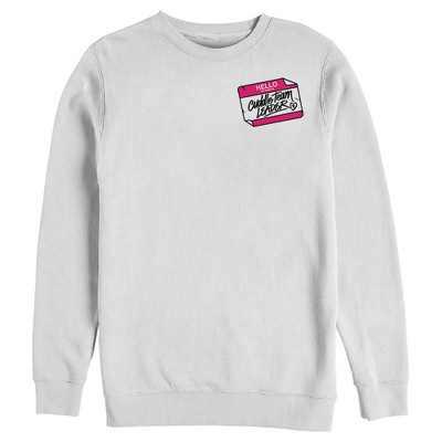 Men's Fortnite Cuddle Name Tag  Sweatshirt - White - 2X Large