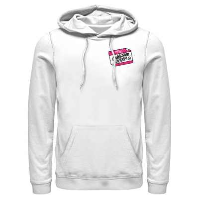 Men's Fortnite Cuddle Name Tag  Pull Over Hoodie - White - Large
