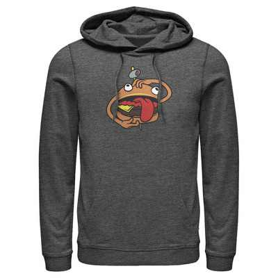 Men's Fortnite Durr Burger  Pull Over Hoodie - Charcoal Heather - Large