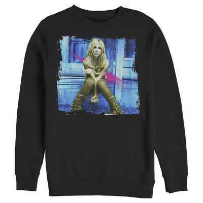 Men's Britney Spears Self-Titled Album  Sweatshirt - Black - Medium
