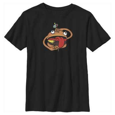 Fifth Sun Kids Hamburger Slim Fit Short Sleeve Crew Graphic Tee - Black X Large
