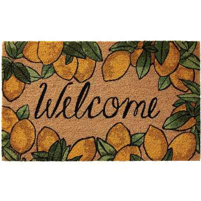 "Nourison Casa Bella NC462 Welcome Lemon Border Door Mat - Multicolor 1'6""X2'6"""