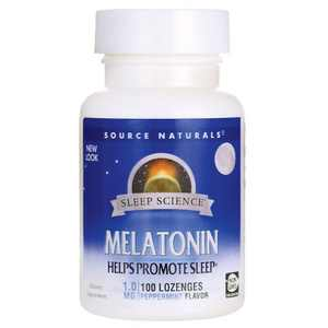 Source Naturals Melatonin - Peppermint 1 mg 100 Lozenges