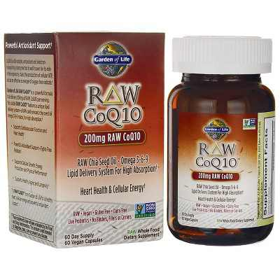 Garden of Life Dietary Supplements Raw Coq10 200 mg Capsule 60ct.