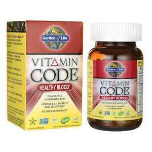 Garden of Life Dietary Supplements Vitamin Code Healthy Blood Capsule 60ct
