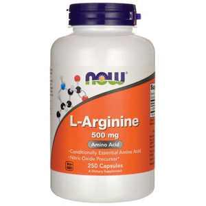 NOW Foods Dietary Supplements L-Arginine 500 mg Capsule 250ct
