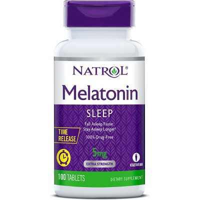 Natrol Dietary Supplements Melatonin Time Release 5 mg Tablet 100ct