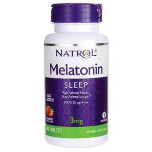Natrol Dietary Supplements Melatonin Fast Dissolve 3 mg Tablet - Strawberry 90ct.