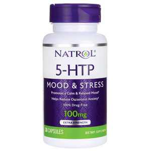 Natrol Dietary Supplements 5-Htp 100 mg Capsule 30ct