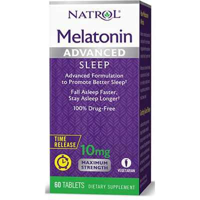 Natrol Dietary Supplements Melatonin Advanced Time Release 10 mg Tablet 60ct