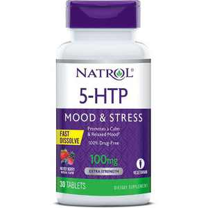 Natrol Dietary Supplements 5-Htp Fast Dissolve 100 mg Tablet - Mixed Berry 30ct.