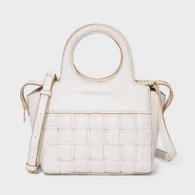 Zip Closure Satchel Handbag - A New Day