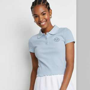 Women's Slim Fit Short Sleeve Polo Baby T-Shirt - Wild Fable