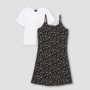 Girls' Slip Sleeveless Dress with T-Shirt - art class