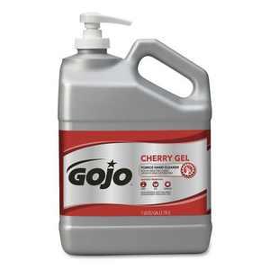 GOJO Industries 2358-02 Cherry Gel 1 Gallon Pump Bottle Pumice Hand Cleaner